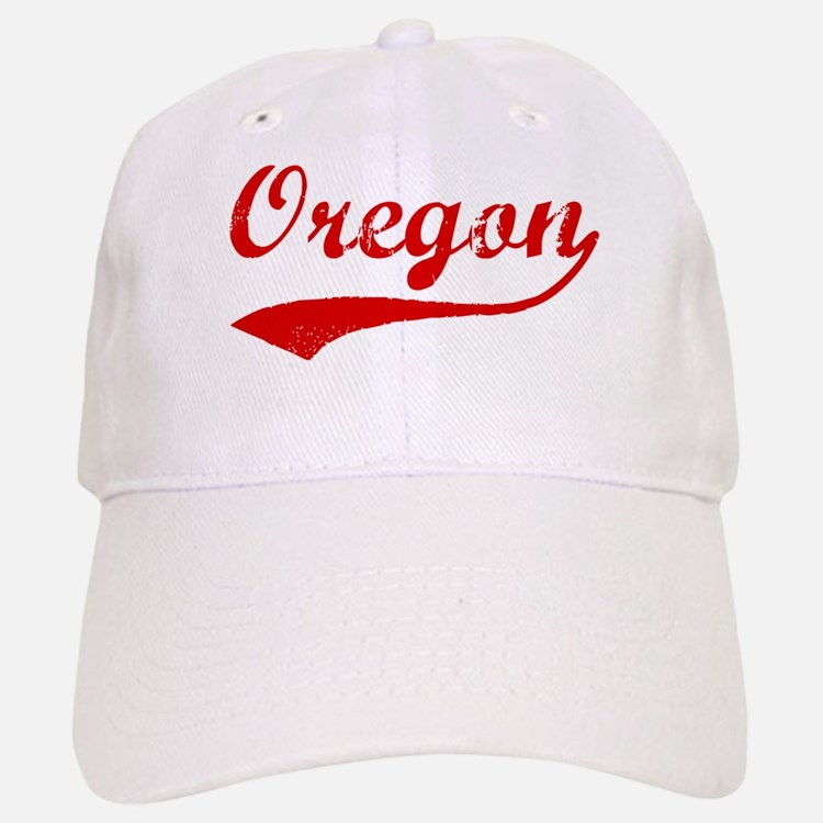 Red Vintage: Oregon Baseball Baseball Cap