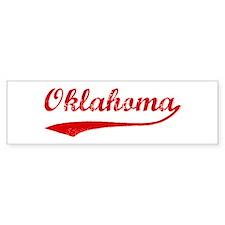 Red Vintage: Oklahoma Bumper Bumper Sticker