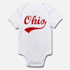 Red Vintage: Ohio Infant Bodysuit