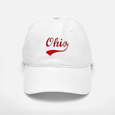 Red Vintage: Ohio Baseball Baseball Cap