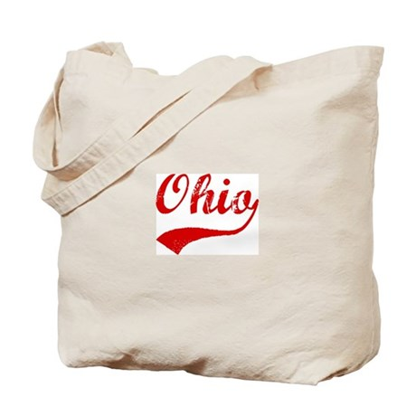 Red Vintage: Ohio Tote Bag