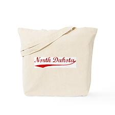 Red Vintage: North Dakota Tote Bag