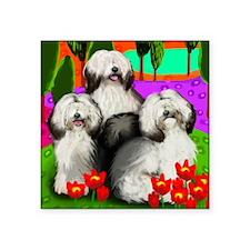 "sheepdogpond copy           Square Sticker 3"" x 3"""
