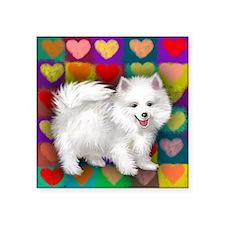 "heartseski copy             Square Sticker 3"" x 3"""