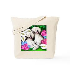 sheepdogflowersgarden copy                Tote Bag