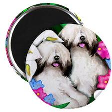 sheepdogflowersgarden copy                  Magnet