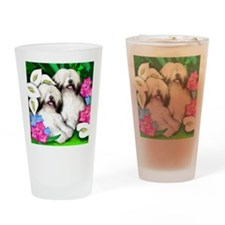 sheepdogflowersgarden copy          Drinking Glass