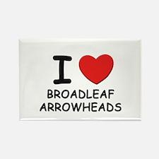 I love broadleaf arrowheads Rectangle Magnet