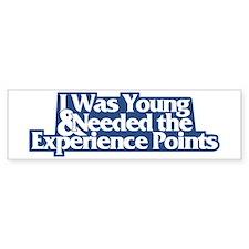 """""""I was young..."""" (D&D) Bumper Bumper Sticker"""