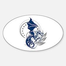 Blue Tattoo Dragon Decal