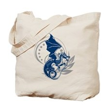 Blue Tattoo Dragon Tote Bag