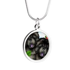 blackchows copy              Silver Round Necklace