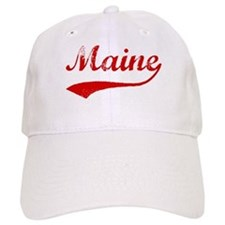 Red Vintage: Maine Baseball Cap