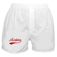 Red Vintage: Maine Boxer Shorts