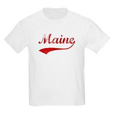 Red Vintage: Maine Kids T-Shirt