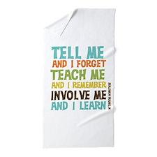 Involve Me Beach Towel