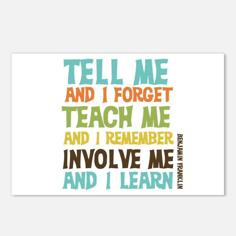 Involve Me Postcards (Package of 8)