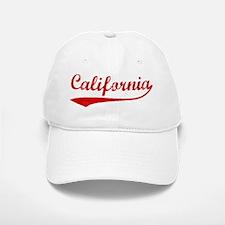 Red Vintage: California Baseball Baseball Cap