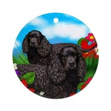 waterspanieldogs Round Ornament