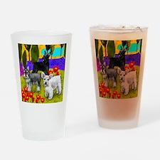 schnauzer8 copy Drinking Glass