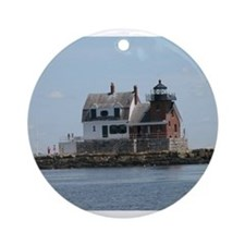 Rockland Light Lighthouse Ornament (Round)