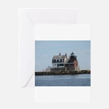 Rockland Light Lighthouse Greeting Card