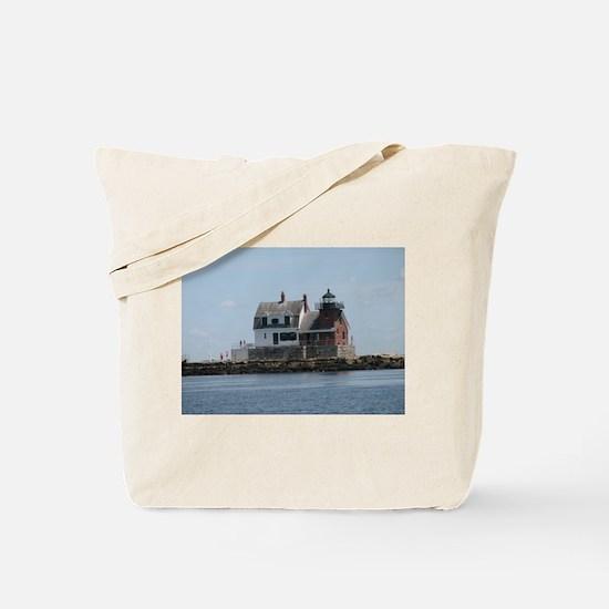Rockland Light Lighthouse Tote Bag