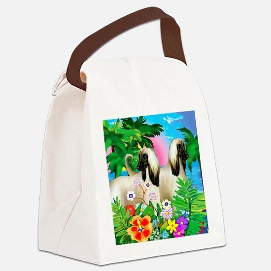 afghanhound3 copy Canvas Lunch Bag