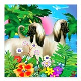 Afghan hound Square Car Magnets