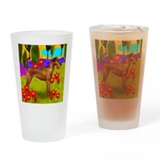 irishterrierlake copy Drinking Glass