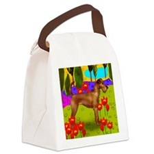 irishterrierlake copy Canvas Lunch Bag