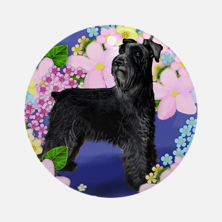schnauzer9 copy Round Ornament