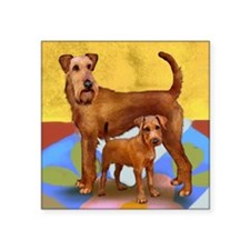"irishterrier4 copy Square Sticker 3"" x 3"""