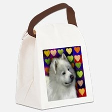 samoyed 3 copy Canvas Lunch Bag