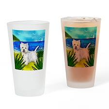 westiebeach copy Drinking Glass