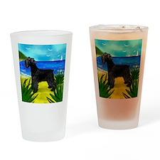 schnaucerbeach copy Drinking Glass