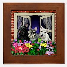 windowshnaucer3a copy Framed Tile