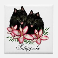schipperke copy Tile Coaster