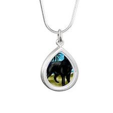 flatcoatretriever3 copy Silver Teardrop Necklace