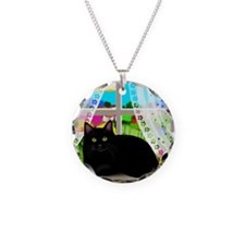 blcatwindow copy Necklace Circle Charm