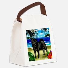 pugbeach copy Canvas Lunch Bag