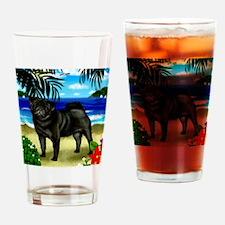 pugbeach copy Drinking Glass