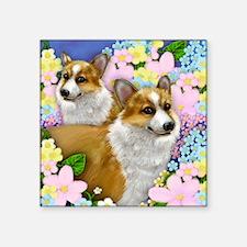 "welshdogsgarden copy Square Sticker 3"" x 3"""