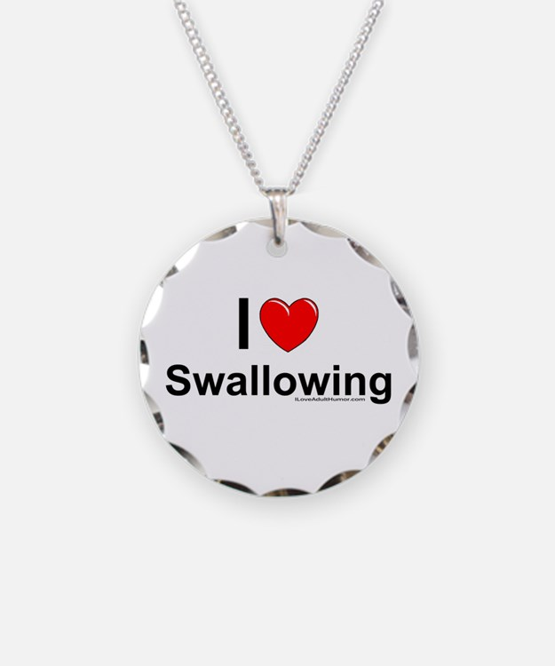 Swallowing Necklace Circle Charm
