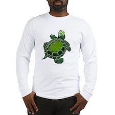 3D Textured Turtle Long Sleeve T-Shirt