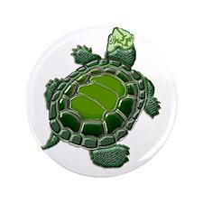 "3D Textured Turtle 3.5"" Button"