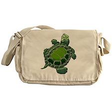3D Textured Turtle Messenger Bag