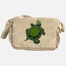 3D Textured Turtle Messenger Bag