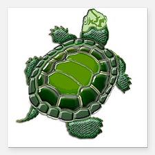 "3D Textured Turtle Square Car Magnet 3"" x 3"""