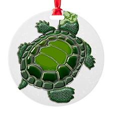 3D Textured Turtle Ornament
